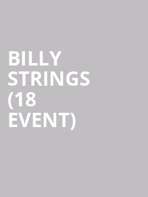Billy Strings (18+ Event) at Front Lounge